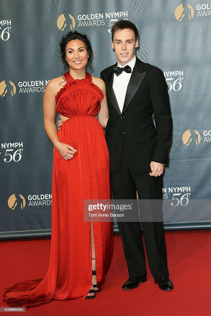 Louis Ducruet and Girlfriend Marie Chevalier arrive at the 56th Monte Carlo TV Festival Closing Ceremony and Golden Nymph Award at The Grimaldi Forum on June 16, 2016 in Monte-Carlo, Monaco.