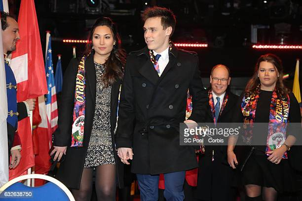 Louis Ducruet and his companion Marie Prince Albert II of Monaco and Camille Gottlieb attend the 41st MonteCarlo International Circus Festival on...