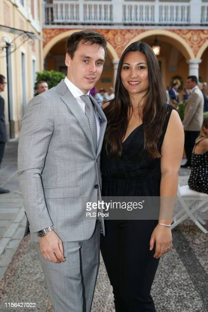 Louis Ducruet and Marie Chevalier attend a cocktail during the 59th Monte Carlo TV Festival on June 16, 2019 in Monaco, Monaco.