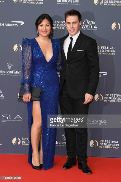 Louis Ducruet and Marie Chevalier attend the opening ceremony of the 59th Monte Carlo TV Festival on June 14, 2019 in Monte-Carlo, Monaco.