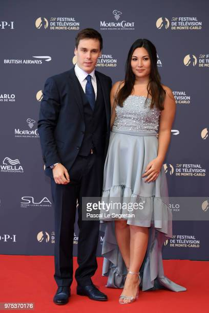 Louis Ducruet and Marie Chevallier attend the opening ceremony of the 58th Monte Carlo TV Festival on June 15, 2018 in Monte-Carlo, Monaco.