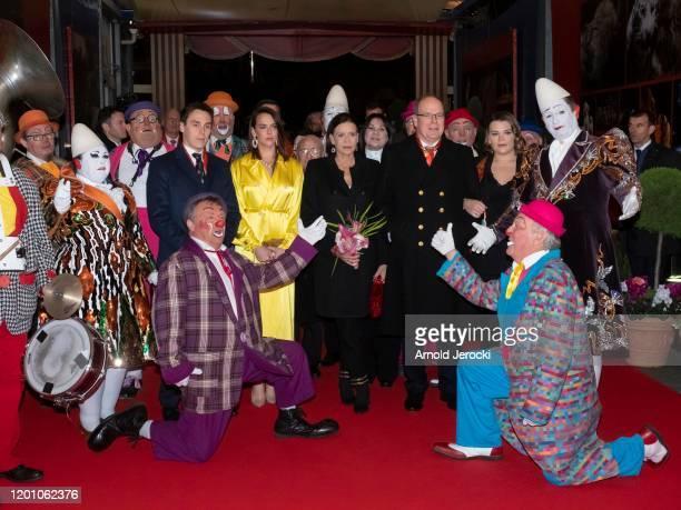 Louis Ducruet Pauline Ducruet Princess Stephanie of Monaco Prince Albert II of Monaco and Camille Gottlieb attend the 44th International Circus...