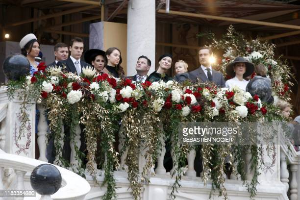 Louis Ducruet , Princess Alexandra of Hanover , Pierre Casiraghi and his wife Beatrice , Andrea Casiraghi's wife Tatiana attend the celebrations...
