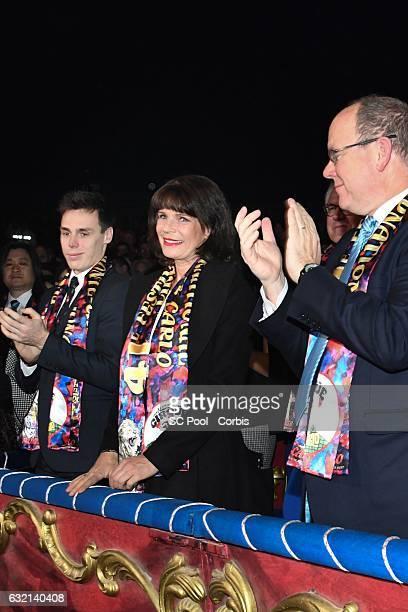 Louis Ducruet Princess Stephanie of Monaco and Prince Albert II of Monaco attend the 41th MonteCarlo International Circus Festival on January 19 2017...