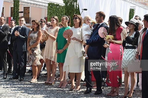 Louis Ducruet Princess Stephanie of Monaco Camille Gottlieb Pauline Ducruet Princess Caroline of Hanover Andrea Casiraghi with Sasha and Tatiana...