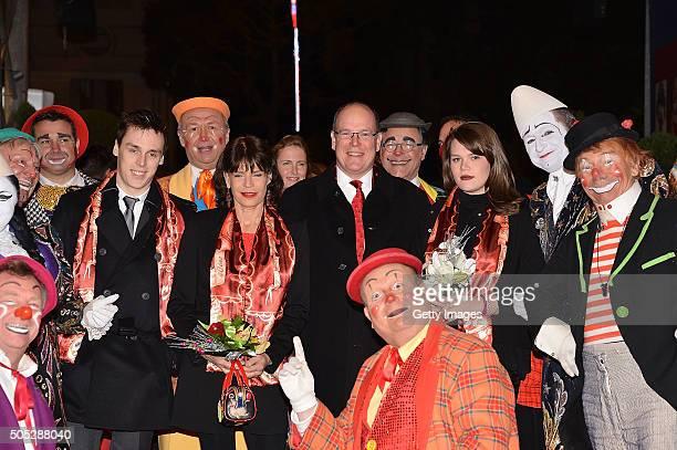 Louis Ducruet Princess Stephanie of Monaco Prince Albert II of Monaco and Camille Gottlieb attend the 40th International Circus Festival on January...