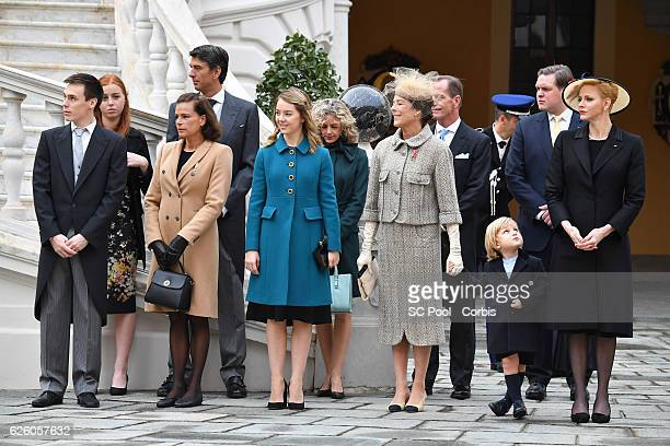 Louis Ducruet, Princess Stephanie of Monaco, Princess Alexandra of Hanover, Princess Caroline of Hanover, Sacha Casiraghi, Princess Charlene of...