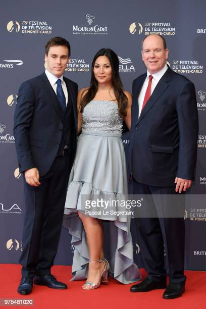 Louis DucruetMarie Chevallier and Prince Albert II of Monaco attend the opening ceremony of the 58th Monte Carlo TV Festival on June 15 2018 in...