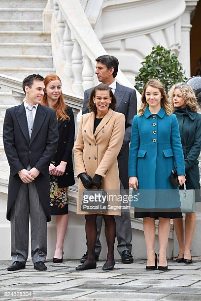 Louis DucruetPrincess Stephanie of Monaco and Princess Alexandra of Hanover attend the Monaco National Day Celebrations in the Monaco Palace...