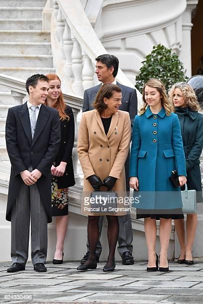 Louis DucruetPrincess Stephanie of Monaco and Princess Alexandra of Hanover attend the Monaco National Day Celebrations in the Monaco Palace...