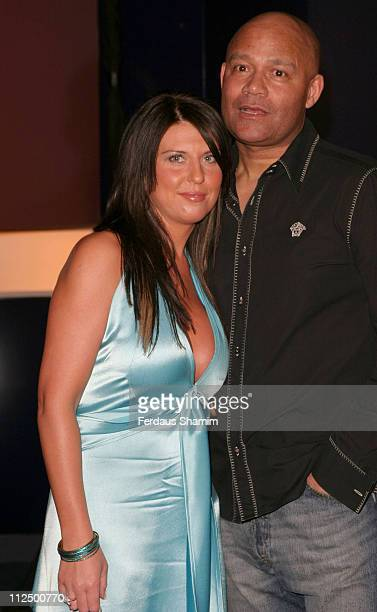 Louis Emerick and guest during Hell's Kitchen II Day 14 Arrivals at Atlantis Building in London Great Britain