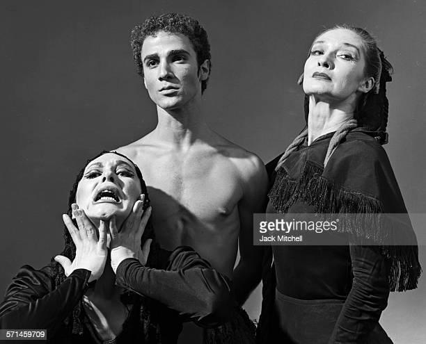 Louis Falco and dancers Letitia Ide and Patricia Hammack perform Lament for Ignacio Sanchez Mejías in 1964.