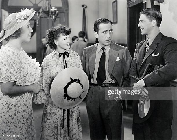 Louis Fazenda Penny Singleton Humphrey Bogart and Ronald Reagan in Swing Your Lady Warner Brothers
