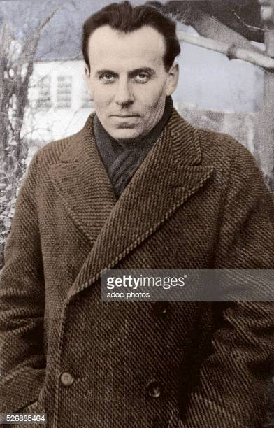 Louis Ferdinand Destouches, called Louis-Ferdinand C��line , French writer. In 1932. Coloured photograph.