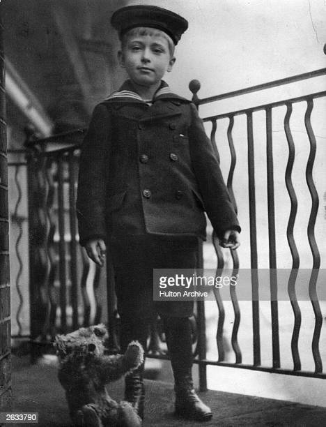 Louis Francis Victor Albert Nicholas Mountbatten 1st Earl Mountbatten of Burma and Admiral of Fleet as a young boy in a sailor suit