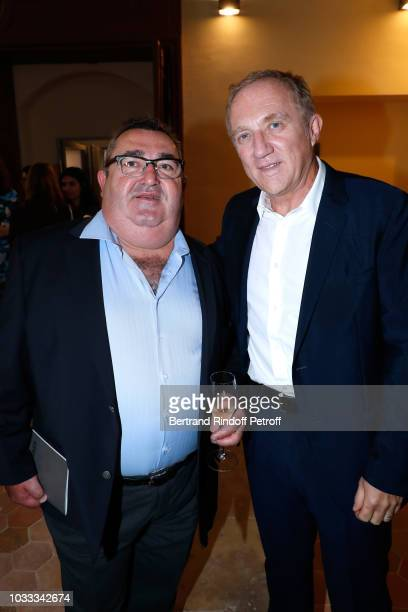 Louis Gadby and CEO of Kering Group FrancoisHenri Pinault attend the Kering Heritage Days Opening Night at 40 Rue de Sevres on September 14 2018 in...