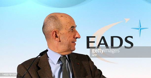 Louis Gallois from France addresses the EADS annual results press conference on March 9 2010 in Paris European aerospace giant EADS accused the US...