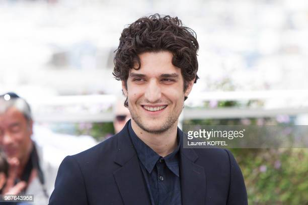 Louis Garrel attends the 'Redoutable ' photocall during the 70th annual Cannes Film Festival at Palais des Festivals on May 21 2017 in Cannes France