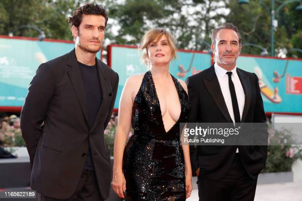 ) Louis Garrel, Emmanuelle Seigner, Jean Dujardin on the red carpet for the screening of 'J'Accuse ' during the 76st Venice Film Festival at the 30...