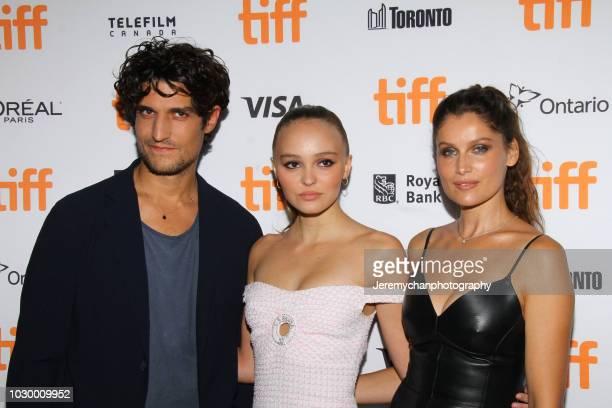 Louis Garrel LilyRose Depp and Laetitia Casta attend 'A Faithful Man' Premiere during 2018 Toronto International Film Festival at Scotiabank Theatre...
