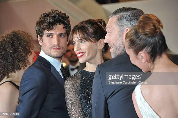 "Louis Garrel, Maiwenn, Vincent Cassel and Emmanuelle Bercot attends at the ""Mon Roi"" Premiere during the 68th Cannes Film Festival"