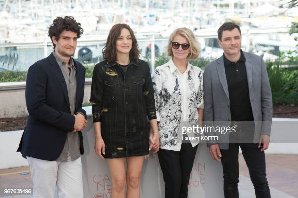 Louis Garrel Marion Cotillard director Nicole Garcia and Alex Brendemuehl attend the 'From The Land And The Moon ' Photocall during the 69th annual...