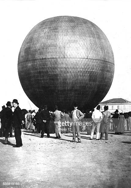 Louis Godard's hotair balloon Photograph by G Primoli Italy