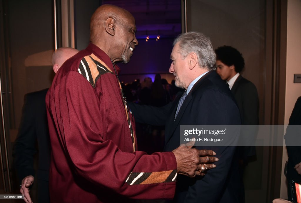 Louis Gossett Jr. (L) and Robert De Niro attend A Legacy Of Changing Lives presented by the Fulfillment Fund at The Ray Dolby Ballroom at Hollywood & Highland Center on March 13, 2018 in Hollywood, California.