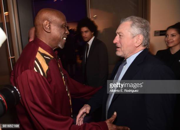 Louis Gossett Jr and Robert De Niro attend A Legacy Of Changing Lives presented by the Fulfillment Fund at The Ray Dolby Ballroom at Hollywood...