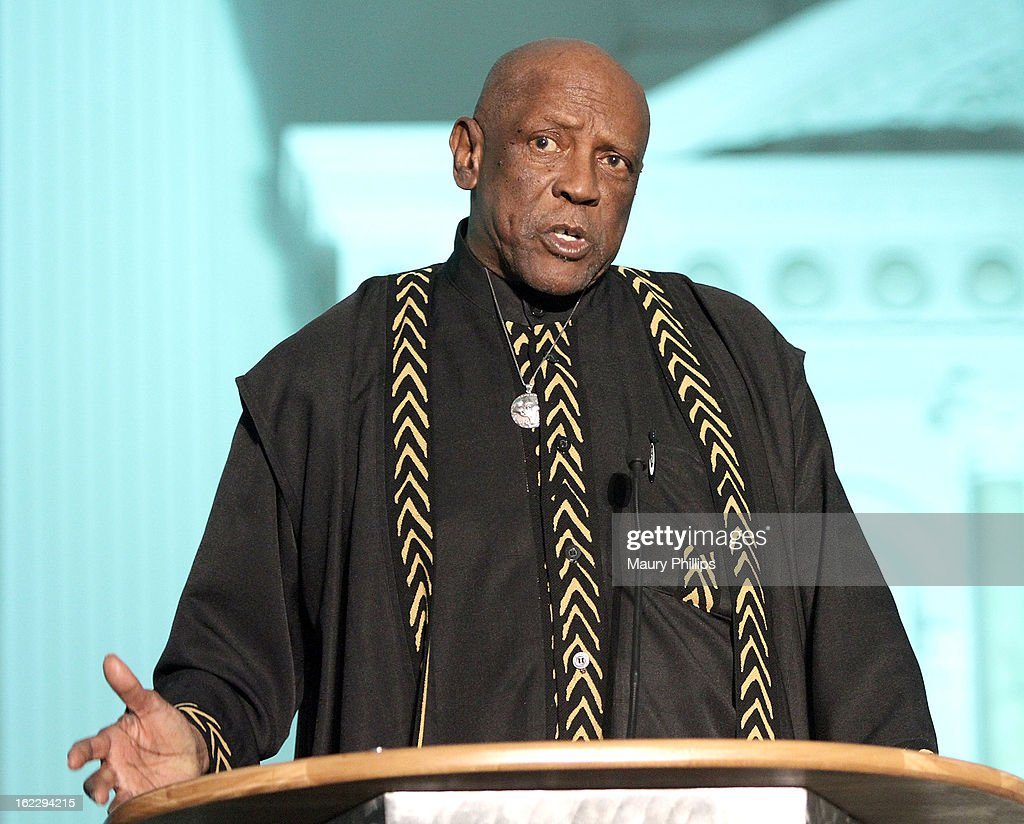 Louis Gossett Jr. speaks onstage during the Executive Preparatory Academy of Finance's 'Reason To Believe' Inaugural charity fundraising gala at Vibiana on February 20, 2013 in Los Angeles, California.