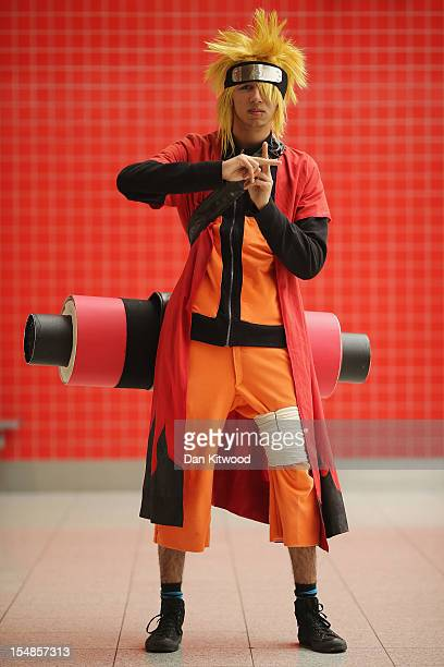 Louis Groves Lewisham poses as Naruto ahead of the MCM London Comic Con Expo at ExCel on October 26 2012 in London England Visitors to the Comic...