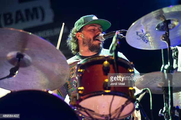Louis Guillemette Poitras of Solids performs on stage during day 5 of BAM Festival on September 22 2015 in Barcelona Spain