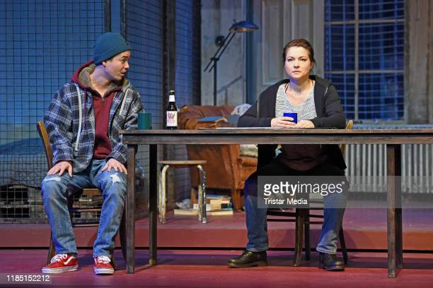 Louis Held Henriette RichterRoehl during the press rehearsal of the play 'Skylight at Schiller Theater on November 28 2019 in Berlin Germany