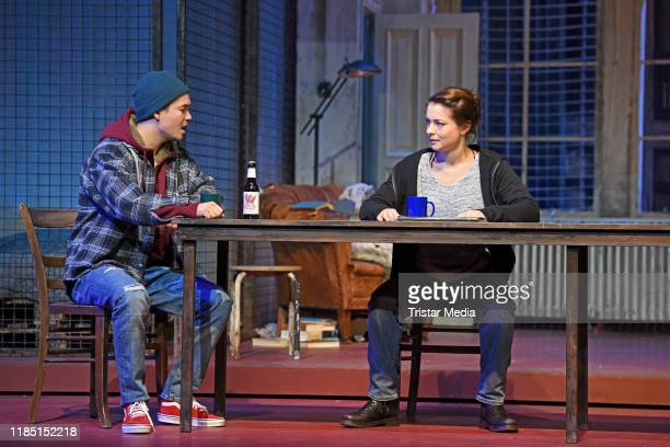"Louis Held, Henriette Richter-Roehl during the press rehearsal of the play 'Skylight"" at Schiller Theater on November 28, 2019 in Berlin, Germany."