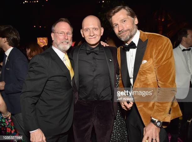 Louis Herthum Anthony Carrigan and Nikolaj CosterWaldau attend HBO's Official 2018 Emmy After Party on September 17 2018 in Los Angeles California