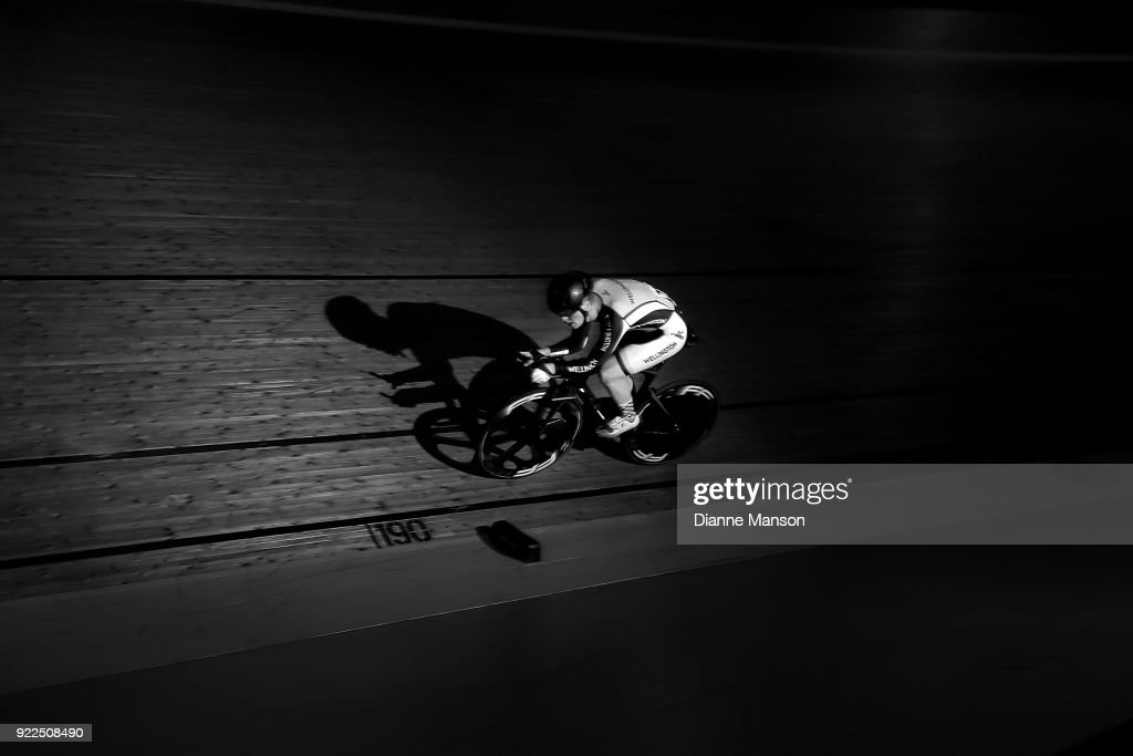 Louis Hodgkinson of Wellington competes in the U19 Men 3000m IP during the New Zealand Track Cycling Championships on February 22, 2018 in Invercargill, New Zealand.