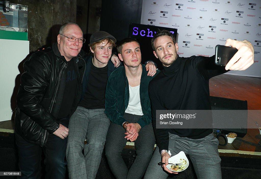 Louis Hofmann, Jannik Schuemann, and Vladimir Burlakov attend the Medienboard Pre-Christmas Party at Schwuz on December 1, 2016 in Berlin, Germany.