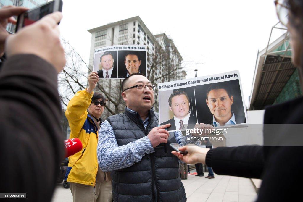 CANADA-CHINA-US-DIPLOMACY-TELECOM-EXTRADITION : News Photo