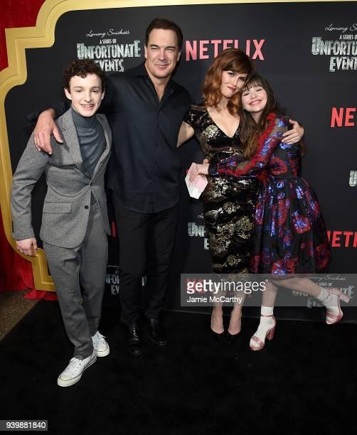 Louis HynesPatrick Warburton Sara Rue and Malina Weissman attend the 'A Series Of Unfortunate Events' Season 2 Premiere at Metrograph on March 29...