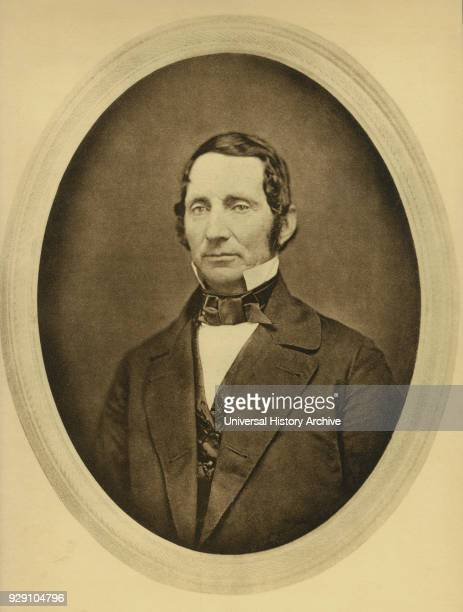 Louis Jacques Mand Daguerre French Artist and Photographer Recognized for his Invention of the Daguerreotype Process of Photography Portrait from a...