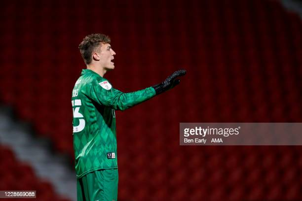 Louis Jones of Doncaster Rovers during the EFL Trophy match between Doncaster Rovers v Bradford City at Keepmoat Stadium on September 8 2020 in...