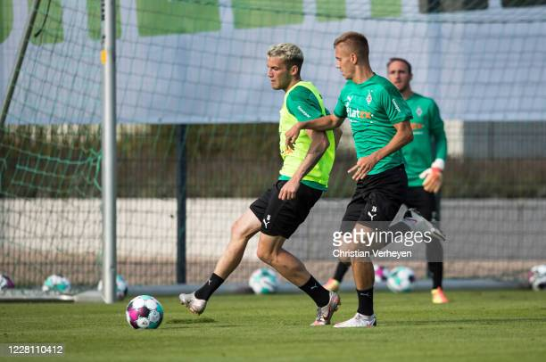 Louis Jordan Beyer in action during the Training Camp of Borussia Moenchengladbach at Klosterpforte on August 19, 2020 in Marienfeld, Germany.