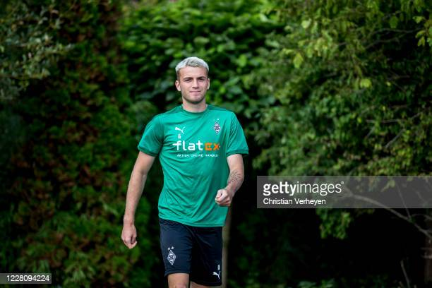 Louis Jordan Beyer is seen during the Training Camp of Borussia Moenchengladbach at Klosterpforte on August 18, 2020 in Marienfeld, Germany.