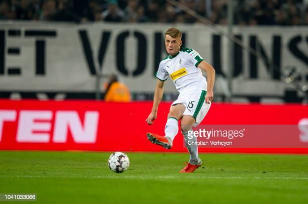 Louis Jordan Beyer of Borussia Moenchengladbach in action during the Bundesliga match between Borussia Moenchengladbach and Eintracht Frankfurt at...