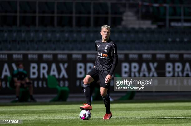 Louis Jordan Beyer of Borussia Moenchengladbach in action during the Pre-Season friendly match between Borussia Moenchengladbach and SpVgg Fuerth at...
