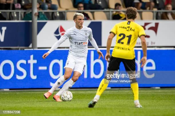 Louis Jordan Beyer of Borussia Moenchengladbach in action during the pre-season friendly match between VVV-Venlo and Borussia Moenchengladbach at...
