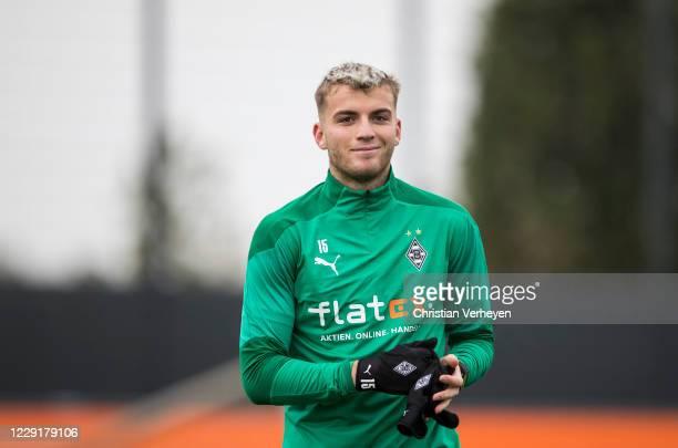 Louis Jordan Beyer of Borussia Moenchengladbach is seen during a training session of Borussia Moenchengladbach at Borussia-Park on October 20, 2020...