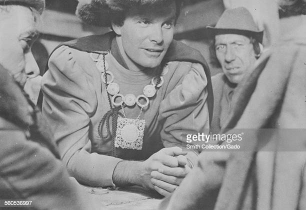 Louis Jourdan during filming of the movie 'Decameron Nights' 1953