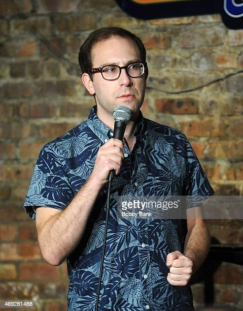 Louis Katz performs at The Stress Factory Comedy Club on April 10, 2015 in New Brunswick, New Jersey.