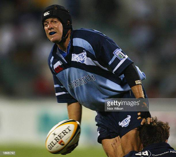 Louis Koen of the Bulls in action during the round five Super 12 match between the ACT Brumbies and the Bulls of South Africa held at the Canberra...
